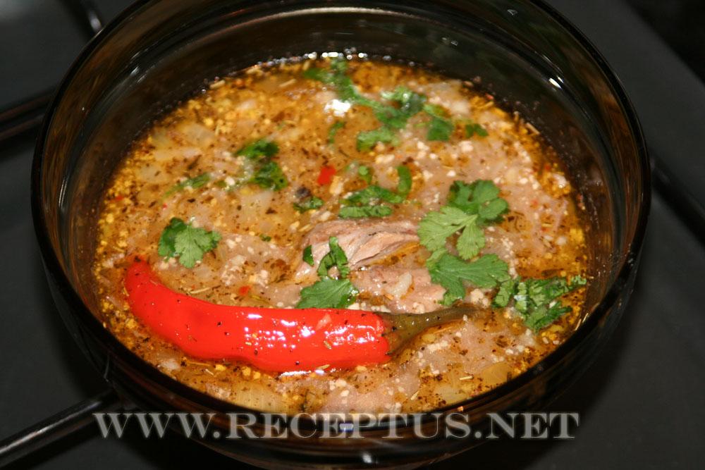 суп харчо рецепт из баранины с ткемали