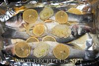 Сибас запеченный с фенхелем и лимоном