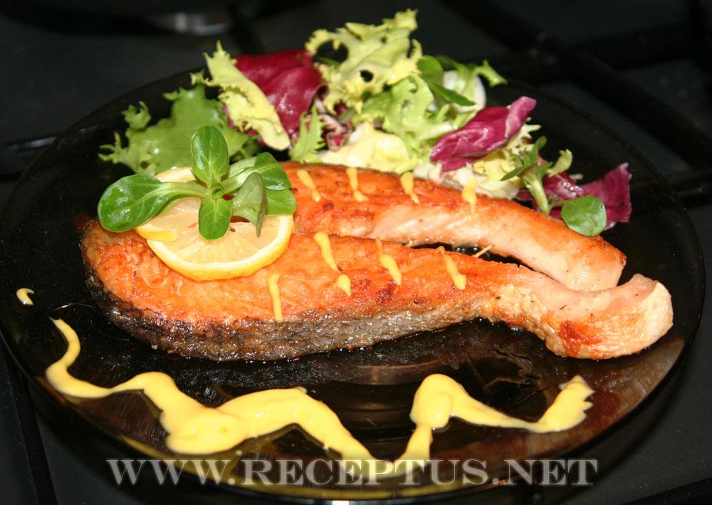 лосось в сливочном соусе в духовке с фото