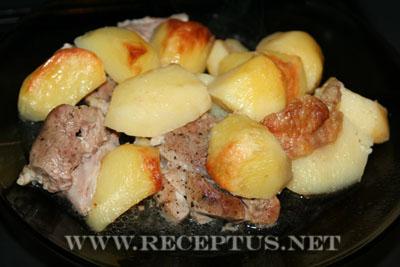 Жаркое из свинины в печи чудо